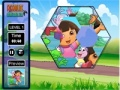 Game Collect the puzzle with Dora and Boots online - games online