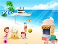 Game Twins at the beach online - games online