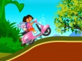 Game Dora and Boots adventure on a motorcycle  online - games online