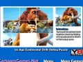 Game Ice Age Continental Drift Sliding Puzzle online - games online