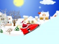 Game Santa Claus on a snowmobile  online - games online