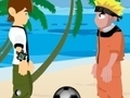 Game Naruto and Ben 10 play volleyball  online - games online
