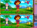 Game Spot the Difference - Dora and Boots online - games online