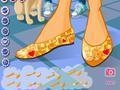 Game The design of ballet shoes online - games online