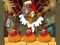 Game Game hens in a chicken coop online - games online