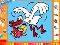 Game Stork and baby online - games online