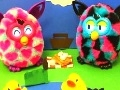 Game Puzzles Furby at a picnic  online - games online